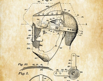 Welder's Mask Patent - Patent Print, Wall Decor, Welder Gift, Garage Decor, Welder, Mask Patent