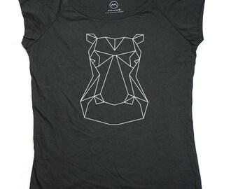 Ninus - Hippo, Hand-printed Bamboo Women's T-Shirt