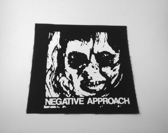 Negative Approach Patch Punk Crust Grindcore Metal