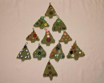 Knit Holiday Christmas Tree Ornament