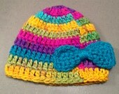 Child's Crocheted hat with bow