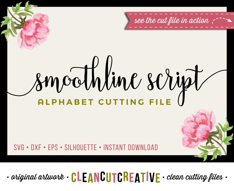 Download Full Alphabet SVG Fonts Cutfile - Modern Handwritten ...