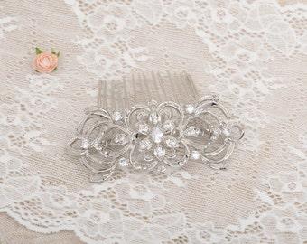 Wedding Hair Comb, Rhinestone Hair comb, Bridal jewelry, Crystal wedding headpiece, bridal comb, Bridesmaids hair comb, Crystal headpiece 16