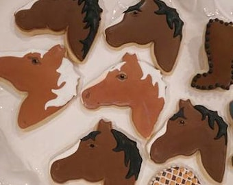 Horse Head Sugar Cookies