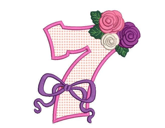 Th birthday embroidery design applique
