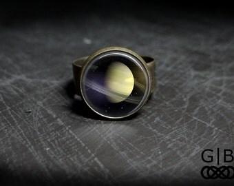Saturn Ring Planet Saturn Ring Jewelry - Saturn Planet Rings - Solar System Rings - Solar System Saturn Ring - Planet Saturn Adjustable Ring