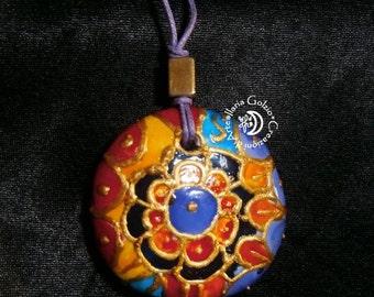 Ceramic MANDALA PENDANT