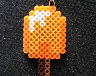 Orange Popsicle Perler Necklace