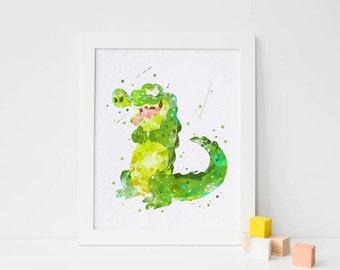 Tick tock croc alligator nursery crocodile peter pan nursery peter pan wall art peter pan wall decal peter pan print peter pan printable