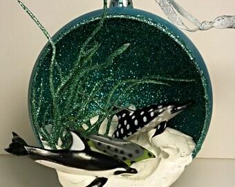 """4"""" Dolphin Christmas Ornament Handmade"""