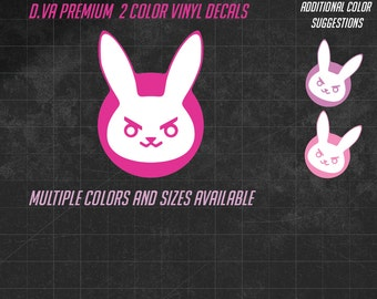D.Va Bunny PREMIUM decal -  Multiple sizes and over 60 colors to choose from