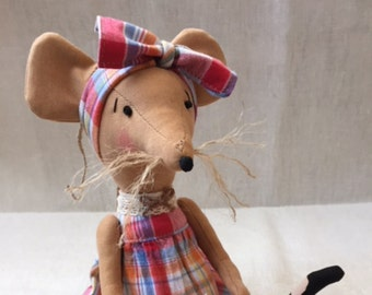 Sitting mouse, stuffed animal toy, home decor