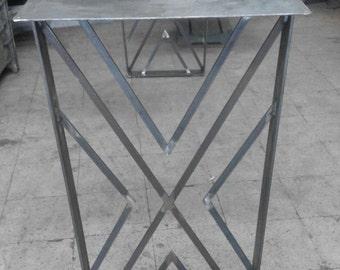 "Trapezoid Table Leg, Height 28"" - W 24"" Set of 2"