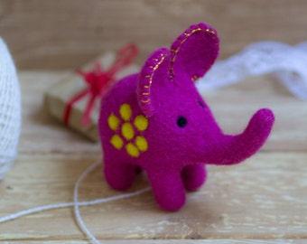 Wool toy, toy elephant, stuffed animal, eco friendly toy, eco friendly elephant, stuffed wool toy, fibre elephant, wool elephant, elephant