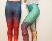 Large - Mermaid yoga leggings