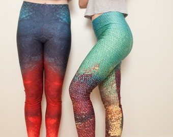 Medium - Mermaid yoga leggings
