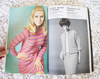 Vintage Vogue Knitting book, 70s knitting book, Knitted dress Sweaters Co-ordinates Crochet suit Cardigan