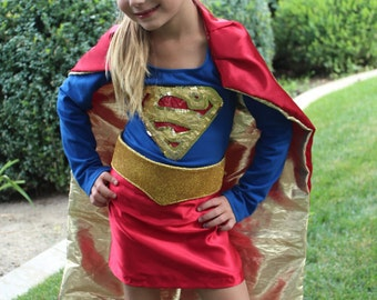 Custom PREMIUM SUPERGIRL Costume for Toddler-Child-Teen