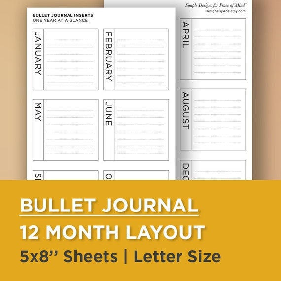 12 month planner template