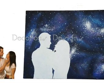 Galaxy Silhouette Painting