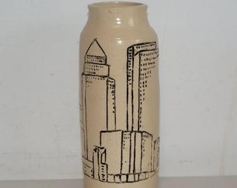 Cornish hand made  vase