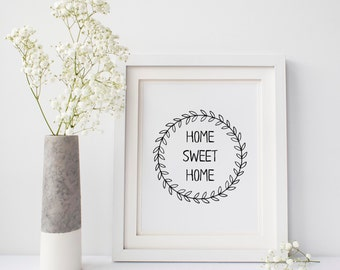 """Instant Download """"Home Sweet Home"""" Printable, 8x10"""