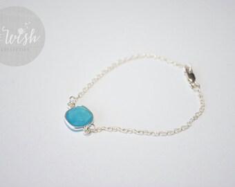 BLUE CHALCEDONY BRACELET, Sterling Silver
