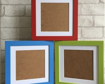 Set of 3 8x8 Inch Wooden Picture Frames