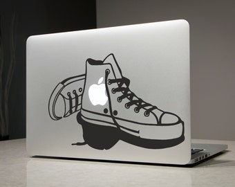 Shoes Runners - Macbook Decal Sticker Laptop Vinyl Decals Stickers Apple Mac Pro Air Handmade Gifts Plimsoll Plimsole