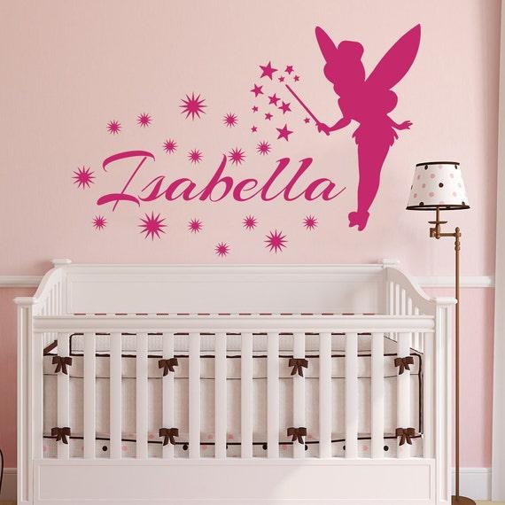 Princess Vinyl Decal Wall Sticker Words Lettering Nursery: Tinkerbell Name WALL DECAL Vinyl Decals Sticker Little