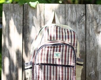 Hi-Quality Handmade Hemp Backpack; fine industrial detailing