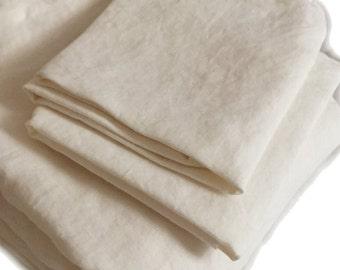 Linen cloth ALLROUNDER sheets coupling 180 x 240 cm 100% linen Stonewashed, milk white