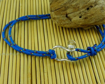 Bracelet shackle in Sterling silver 925 -beach carabiner - sailor - surfer