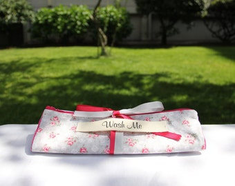 Roll-up Blooming Travel Lingerie Bag, Travel Underwear Bag, Travel Laundry Bag, Wear Me Wash Me Bag, Gifts for Her