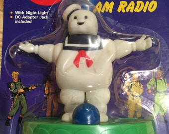 The Real Ghostbusters Stay Puft Night Light AM Radio
