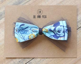 Mickey Bow Tie Hair Bow Barrette