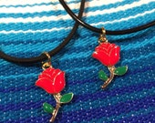 Como la Flor Choker / Red Rose
