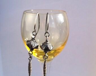 Nadya silver earrings