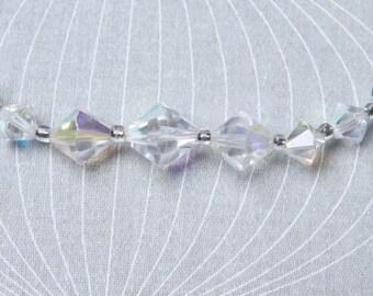 Vintage 50s Necklace, Aurora Borealis Necklace,
