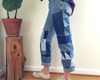 Remix Vintage Levi's Patchwork Jeans