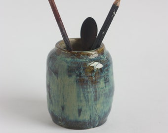 Pen Pot/ Pen Holder / Ceramics Pottery Pencil Holder/ Office Organizer/ Brushes Holder/ Desk Pen Holder