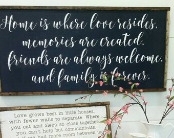 Home is where love resides 17x37