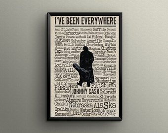 JOHNNY CASH I've Been Everywhere | Poster Print | 11x17