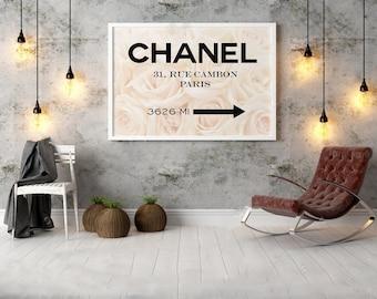 Fashion Print,Chanel 31 Rue Cambon,Fashion Decor,Fashionista,COCO CHANEL Quote,Office Decor,Home Decor,Girls Room Deco,Typography Poster
