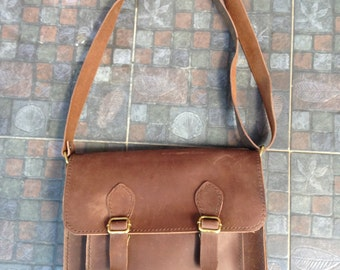 Genuine Leather Messenger Bag (13 inches)