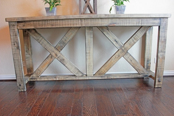 Items Similar To Handcrafted X Brace Console Table
