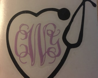 Stethoscope Initial Decal!