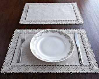 Grey Tablecloth   Etsy