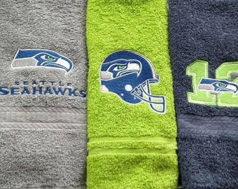 Seahawks Hand Towels. Set of 3