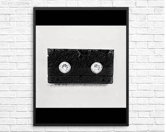 Music for the Minimalist Ears, Minimal Poster, Music Decor, Digital Downloads, Minimalist, Office Decor, Wall Art, Modern Decor, Home Decor